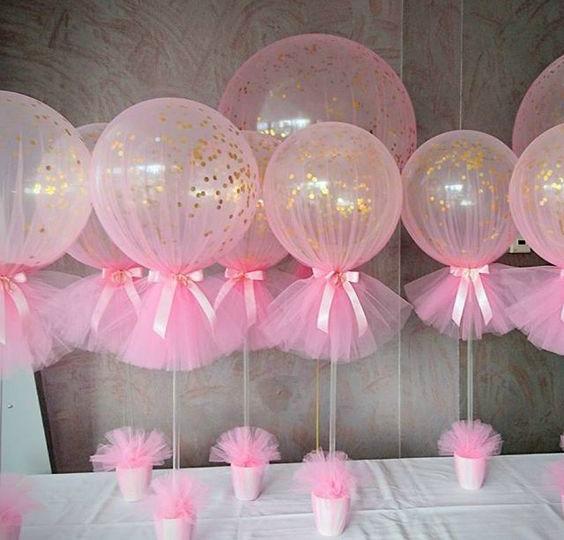 decoración de globos con tela
