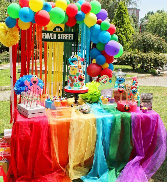 mesa de dulces plaza sesamo
