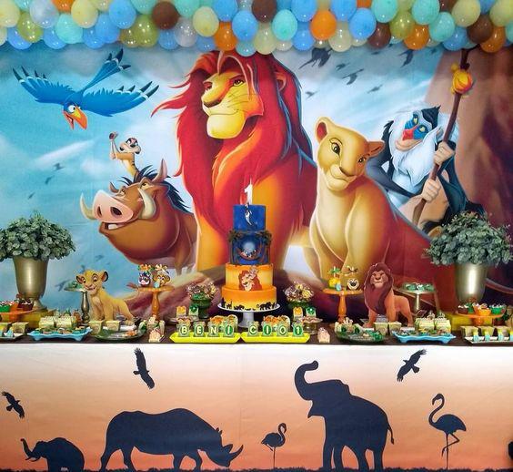 decoracion tematica del rey leon