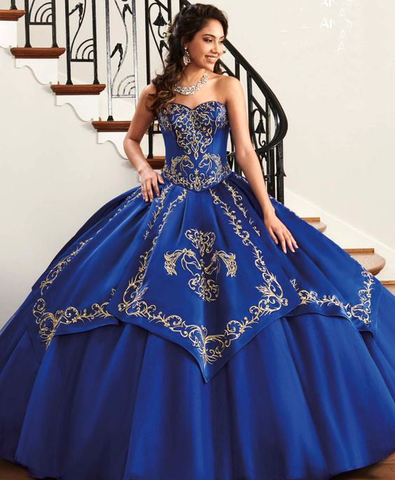quinceañera color azul