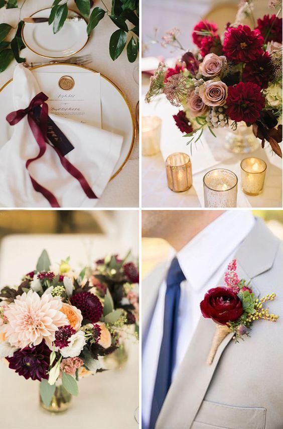 tendencias boda en tono vino