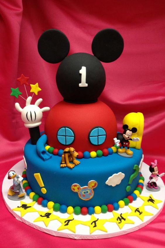 pasteles la casa de mickey mouse