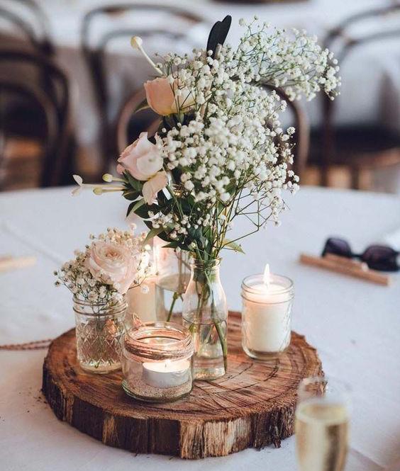 tendencias centros de mesa para boda