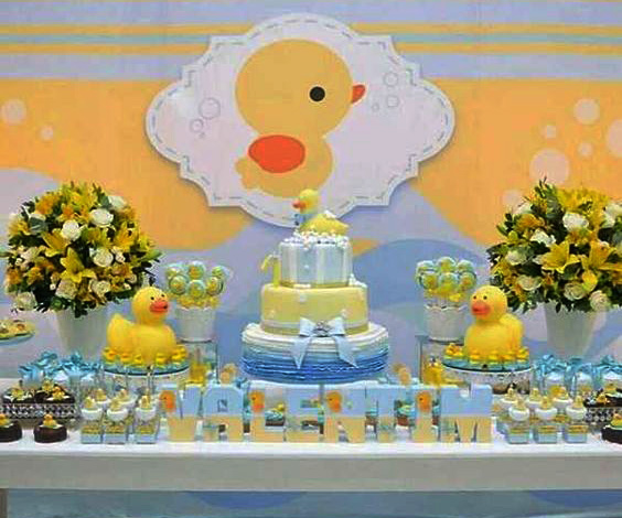 baby shower para niño patos