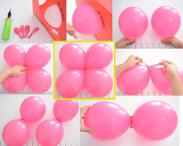 pasos para realizar un cluster de globos