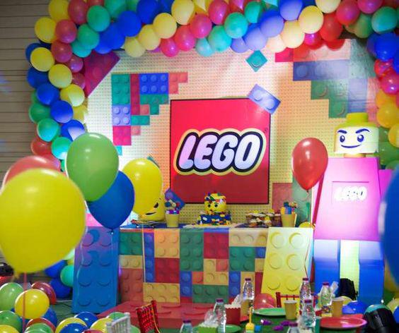 decoracion fiesta lego