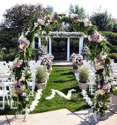 arreglo boda en jardin