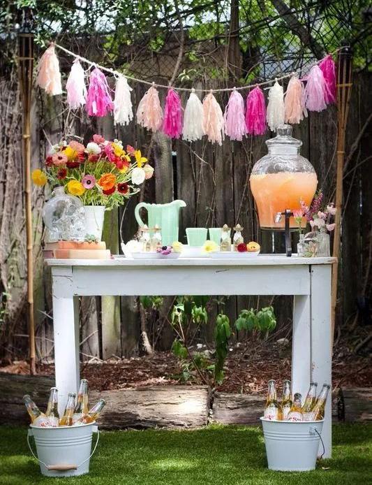 mesa de dulces para jardin