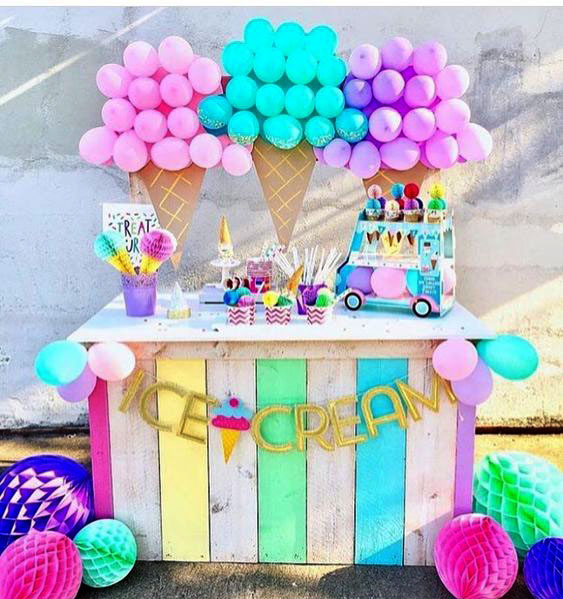 decoracion cumpleaños helados