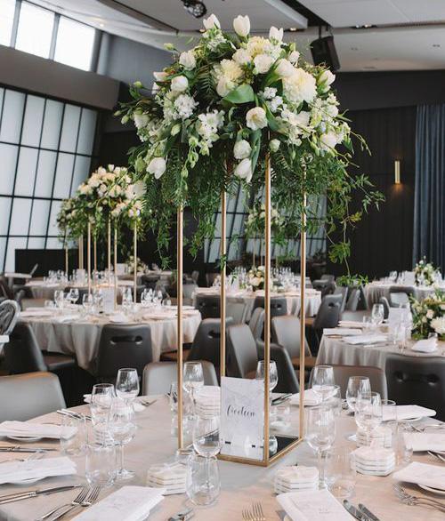tendencias arreglos de mesa para boda