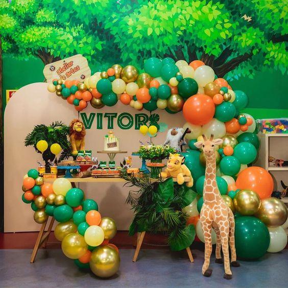 fiesta animales de la selva