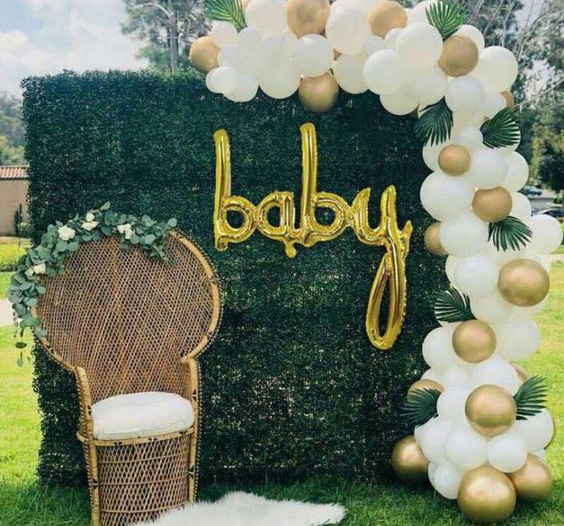 ideas baby shower en color verde