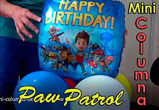 mini columna de globos paw patrol