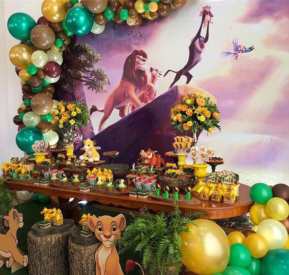 fiesta tematica del rey leon