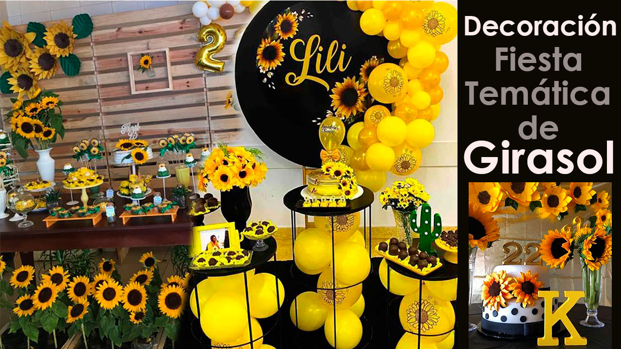 10 Decoraciones para Fiesta de Girasoles