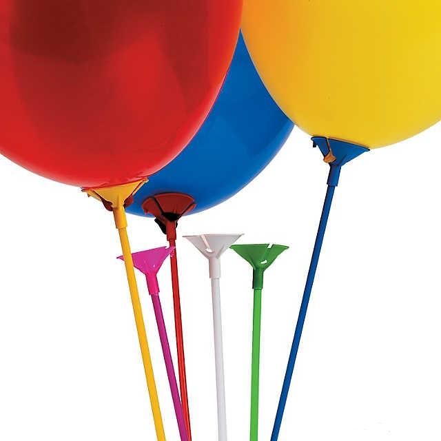 como colocar globos sobre palo