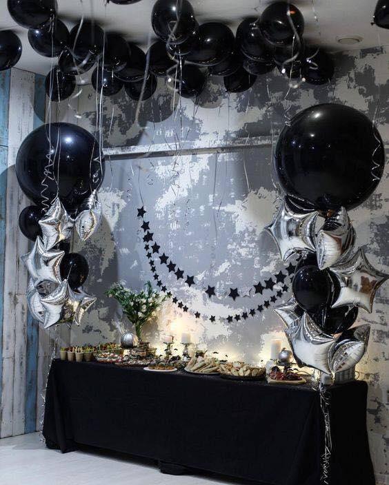 mesa de dulces xv años negro