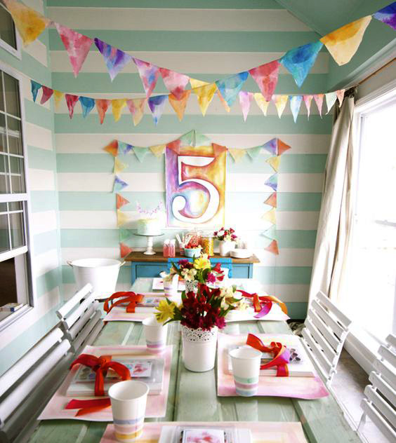 adorno para cumpleaños en casa
