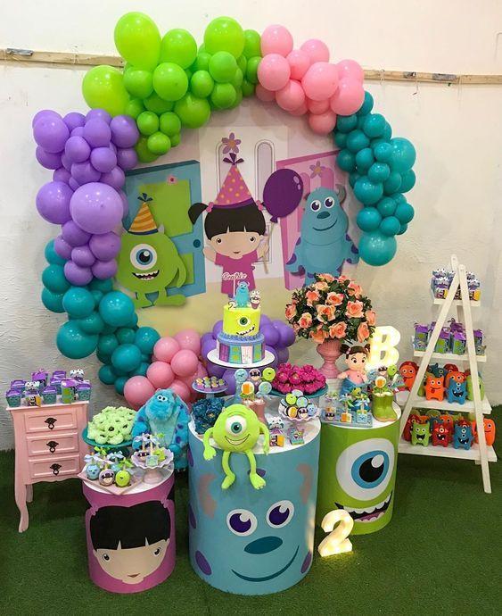 fiesta de cumpleaños niña de monsters inc