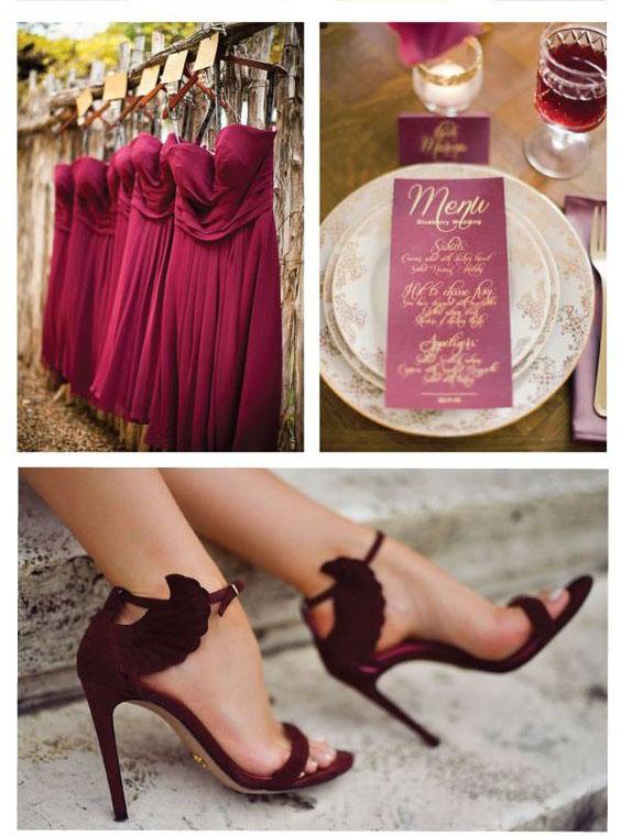 boda en tonos vino