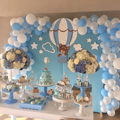 ositos baby shower para niño