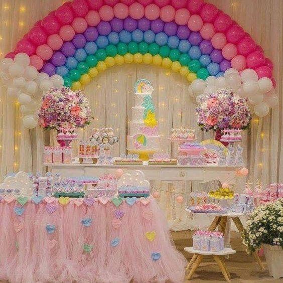 fiesta arcoiris decoracion
