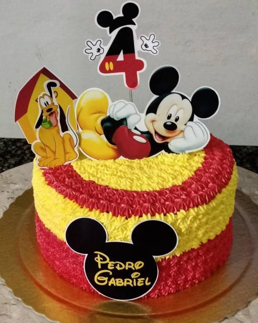torta de fiesta mickey