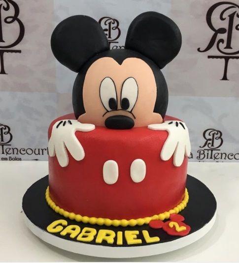 pastel cumpleaños mickey