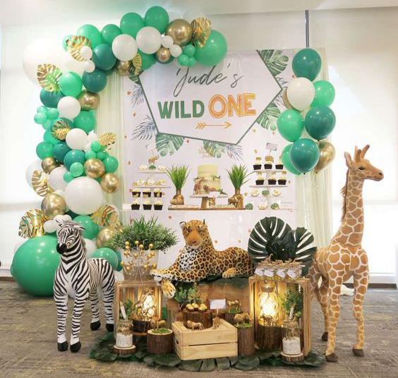 decoracion cumpleaños fiesta selva