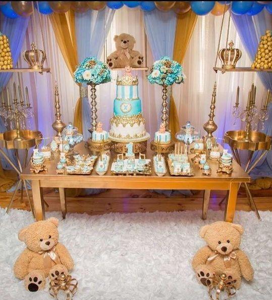 arreglo para baby shower con osos