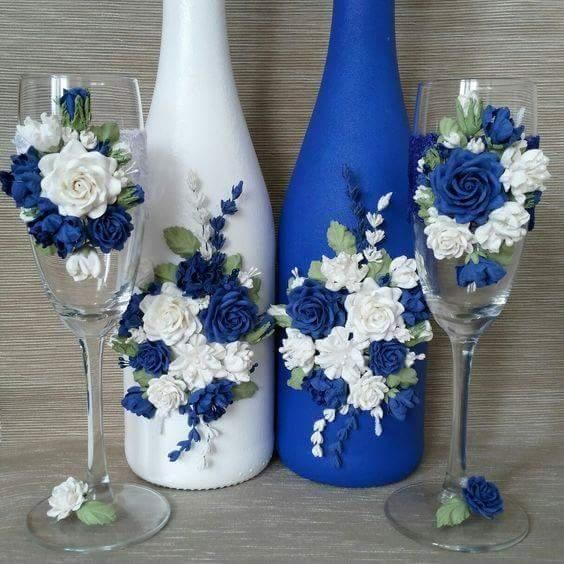 botellas para Boda Decoradas
