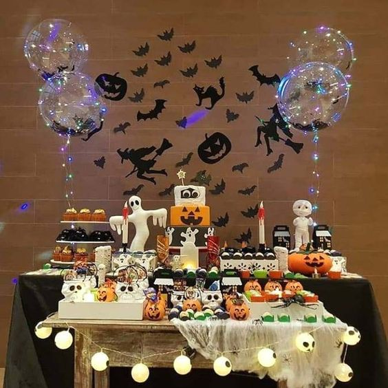 decoracion fantasmas para halloween