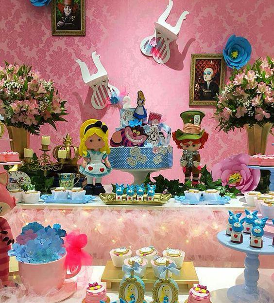 ideas para cumpleaños de alicia en el pais de las maravillas