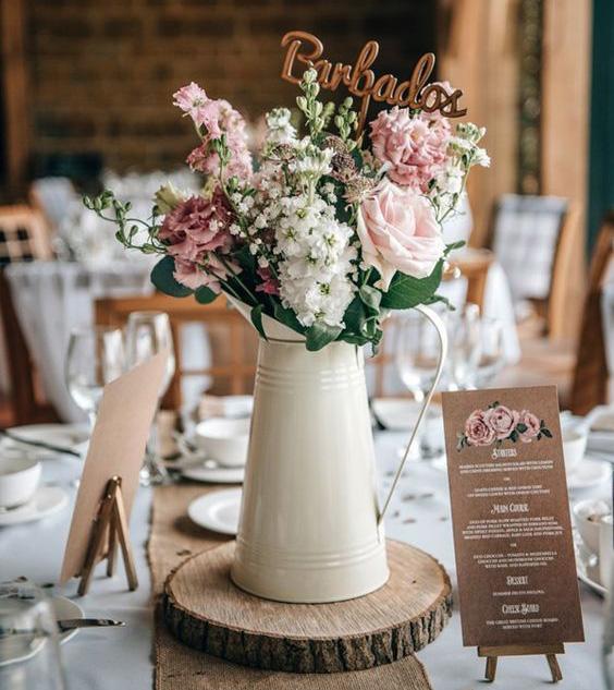 centros de mesa para boda en 2020