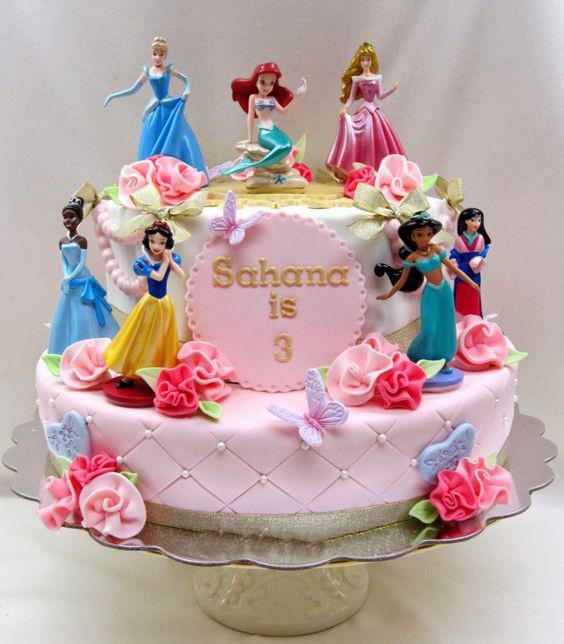 torta de cumpleaños princesas