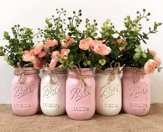 decoraciones de mason jars
