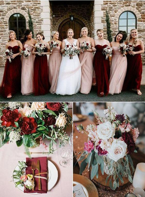 arreglos florales vino para boda