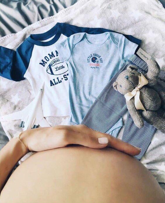 fotos con la ropa del bebe