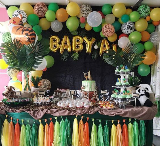 decoracion de la selva para baby shower