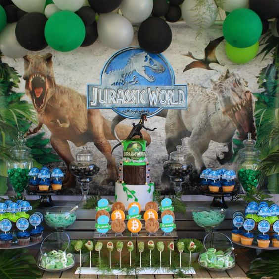 decoracion fiesta jurassic world