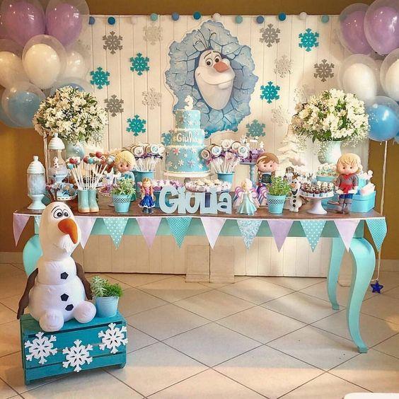 decoracion fiesta olaf