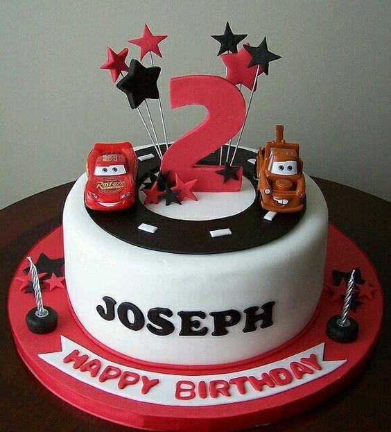 torta de cumpleaños de cars