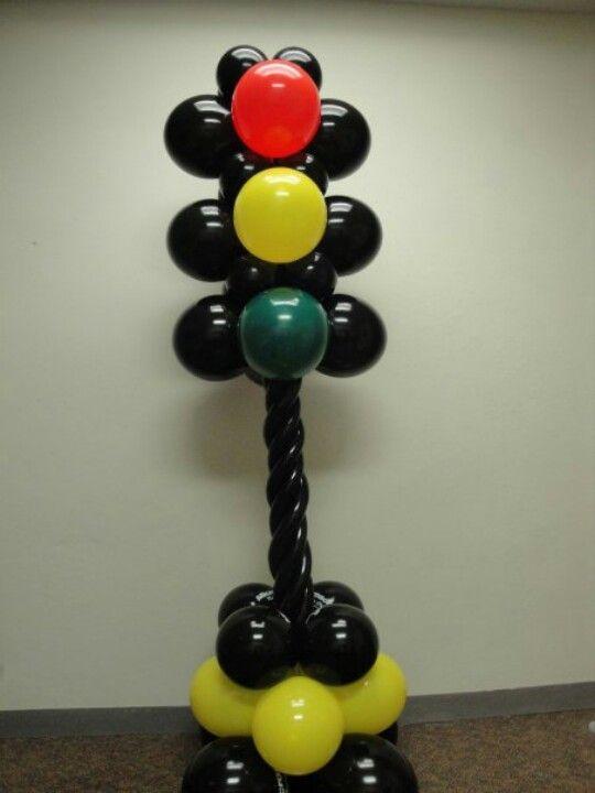torre de semaforo de globos