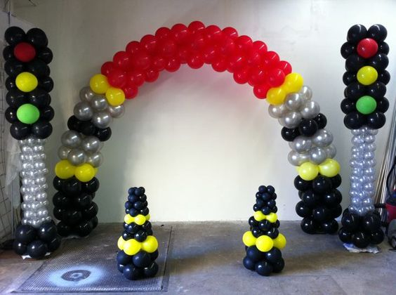 decoracion de globos tematica de cars
