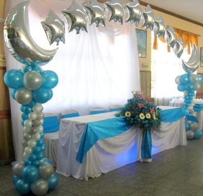 arco de globos para bautizo