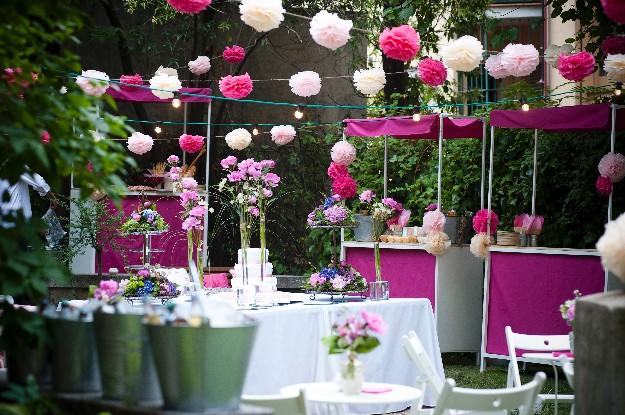 decoracion en jardin para fiesta