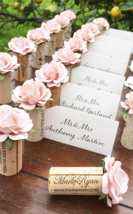 detalles para boda con corchos
