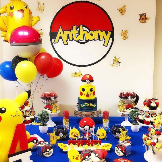 decoracion fiesta pikachu