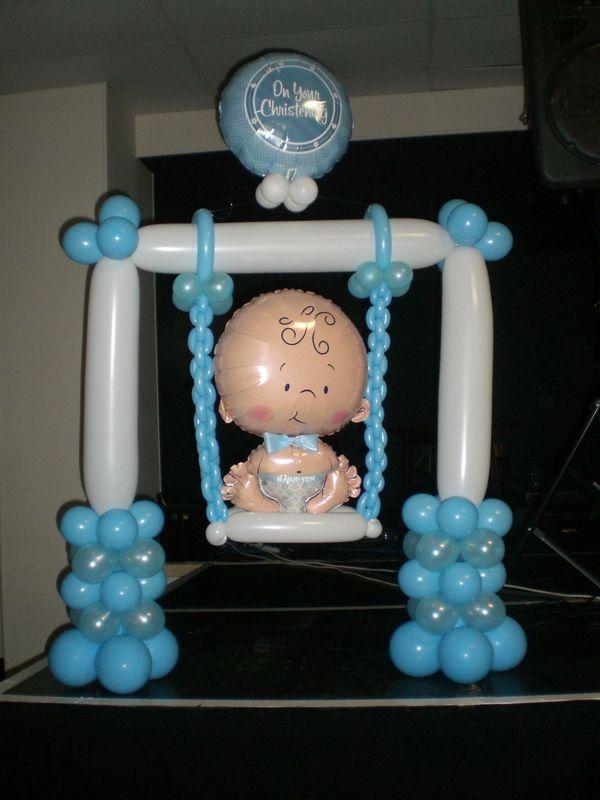 Adornos Para Mesa De Regalos De Baby Shower.10 Adornos Para Baby Shower Con Globos Decoracion Para Fiestas