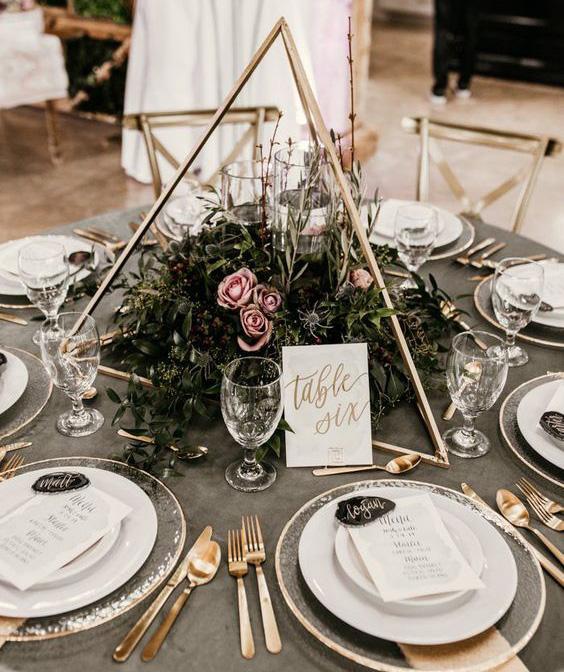 arreglos de mesa para boda